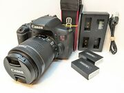 Canon Eos Rebel T6i Dslr Camera + 18-55mm Is Stm Zoom Lens Kit - Very Clean