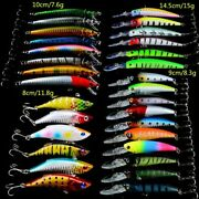 Fishing Lure 30pcs/lot High Quality Mixed 4 Models 30 Color Lure Tackle Mix Bait