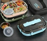 Tableware Lunch Box With Lid Leakproof Rectangle Eco-friendly Food Container New