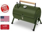 Portable Grill Bbq Smoker Charcoal Outdoor Camping Wood Oven Barbeque Summer Us