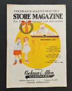 1936 Antique Cochran And Allen's Store Magazine Carlisle Pa Christmas Toys Doll +