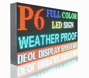 Indoor 6mm Full Color 17 X 61 Pc Programmable Open Led Text/video Image Sign