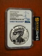 2019 S Enhanced Reverse Proof Silver Eagle Ngc Pf70 Early Releases W/ Coa 13969
