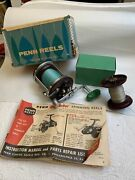 Vintage Penn Jigmaster 500 In Original Box W/ Papers And Extra Spool 2g