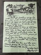 Pappy Boyington Signed Personal Letter And Addressed Envelope