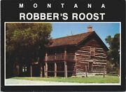 Robber's Roost Montana Mt Btwn Bannack And Virginia City Vintage Postcard D53