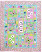 Kids Quilts Oops A Daisy Butterfly Flower Applique Quilt Pattern