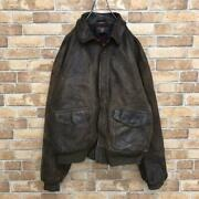 Rrl Initial Made In Usa A-2 Leather Jacket From Japan Fedex No.2727