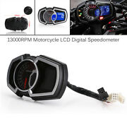 Motorcycle Universal Lcd Digital Odometer Led Speedometer For 1 24 Cylinder