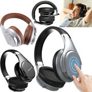 Touch Control Bluetooth Headphones Over-ear Bass Music Gaming Headset With Mic