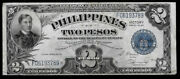 World Paper Money - Philippines 2 Pesos Nd 1944 Wwii Victory P95a @ Vf
