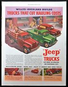 1949 Willys-overland Jeep Trucks Vintage Print Ad Trucks That Cut Hauling Costs