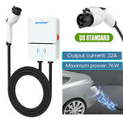 Electric Vehicle Car Charger Smart 32a 7kw Level 2 Ev Charging Station Sae J1772