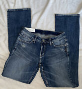 Silver Jeans Co. Women's Elyse Nwt Mid Rise Curvy Slim Boot 28x33