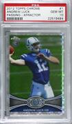 2012 Topps Chrome Retail X-fractor Andrew Luck 1 Psa 10 Rookie