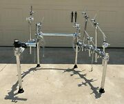 Roland Mds-25 Chrome Drum Rack Mount Stand With Cables