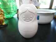 Vintage Fred M-cup White Plastic Nesting Doll Measuring Cups -set Of 5