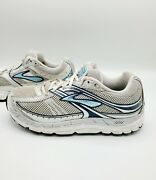 Brooks Addiction 10 Silver And Blue Running Shoes Women's Size 9.5 2e Extra Wide