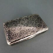 Antique Snuffbox In Silver Gold And Niello Russia Moscow 1838