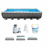 Intex 24 Ft X 12 Ft Ultra Xtr Frame Swimming Pool With Pump And Chlorinating Tabs