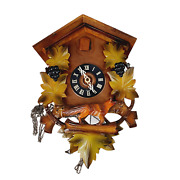 As Is Parts Repair Cuckoo Coo Coo Clock Wooden Germany Birds Colorful