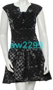 14p 5850 Nwt Authentic Most Wanted 2014 Polka Dot Dress 36 Cc Logo Navy