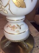 Pair Of Vintage Hand-blown Bavarian Bristol Glass Electric Table Lamps Germany