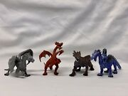 Fantasy Mythical Dragon Monster Creature Rubber Toy Action Figure Lot Of 3