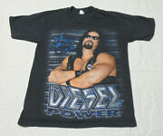 Vintage Wwf Big Daddy Cool Diesel Power Double Sided T-shirt Size M