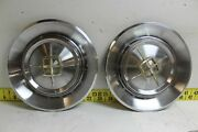 Used Oem Ford Set Of 2 15 Hub Caps Wheel Covers 1959 Lincoln Continental 3103