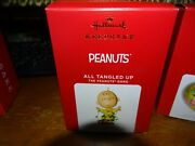 Hallmark Limited Edition Peanuts All Tangled Up Ornament Nib 2021 Sold Out Htf