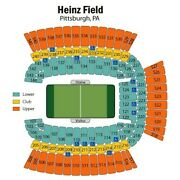 4 Four Awesome Sideline Pittsburgh Steelers Seattle Seahawks 531 Row X 10/17/21
