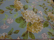 April Cornell Table Cloth 100 Cotton 60x108 Nwot Blue Browns Green White