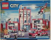 Lego City Fire Station 60110 Factory Sealed New Damage Box. Retired Set 2016andnbsp