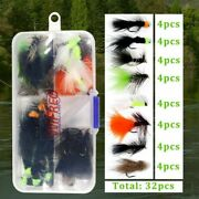 Fly Fishing Lure 32/50/214pcs Dry Wet Flies Nymph Streamer Artificial Pesca Bait
