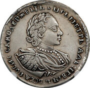 Russia 1720 Peter I Silver Half Rouble Poltina Bitkin 668 R Ngc Vf Det
