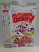 1991 Frankenberry Cereal Box Ghost Marshmallows Empty 1990s Vintage