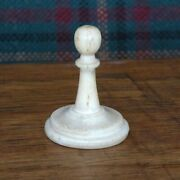 Antique Bone Chess Pieces Early 1900s, 7 White Pawns Spares Availble. Vg Cond.