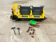 Playmobil Railway Train 4116 Rag Tipping Hopper Cart Wagon Almost Complete