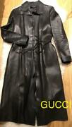 High-quality Genuine Leather Long Coat Free Shipping No.4168