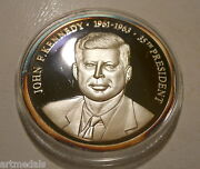 Kennedy Jfk Us Presidents Collection Scarce Silver Medal Usa 35mm