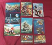 1980s Vintage Lot Of 9 Stereo 3d Cartoon Pictures Post Cards Calendars