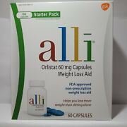 Alli Weight Loss Aid Diet Pills 60 Mg Starter Pack 60 Capsules Exp.03/23
