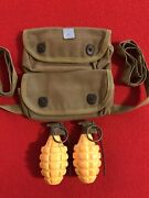 Wwii Usmc Rare Grenade Carrier Cutter Tag Andldquo1944andrdquo 2-pocket Mint Nos Unissued