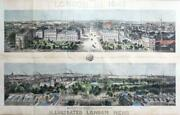 1842 - Magnificent Huge Double Panoramic View Of London Looking North And South