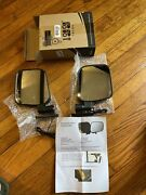 Golf Cart Side Rear View Mirror Set With Turn Signals