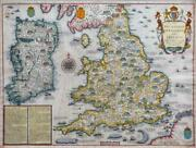 C1627 John Speed Invasions Of England And Ireland Civill Map George Humble