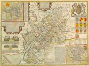 1616 Antique Map 1st Edition Gloucestershire Glocestershire By John Speed