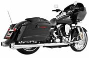 American Outlaw Dual Exhaust For Harley-davidson Flh Flt 2009-2016 Chrome