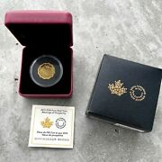 2012 Blessings Of Prosperity Canada Lotus Shaped 150 .99999 Gold Coin